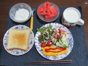 パンの朝食